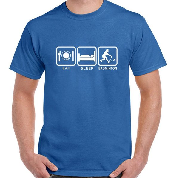 Eat Sleep Badminton - Mens Funny T-Shirt Player