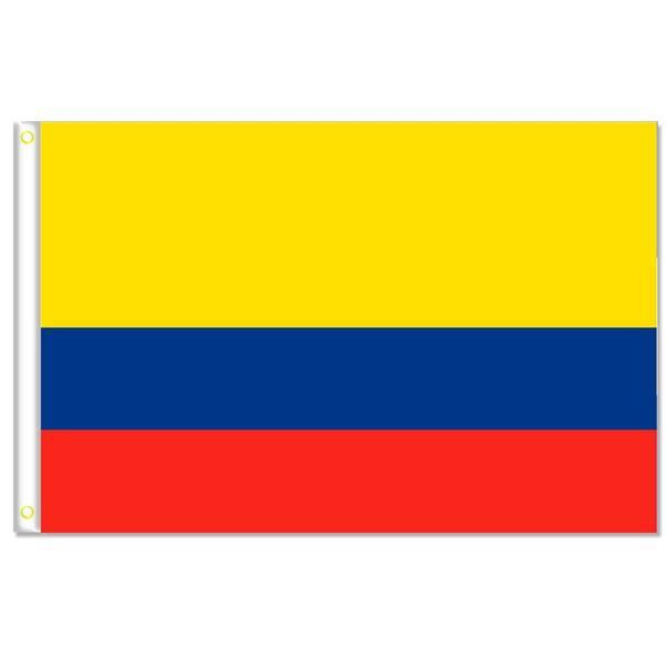 Drapeau de la Colombie bannière taille 3x5FT 90 * 150cm avec oeillet en métal, drapeau extérieur