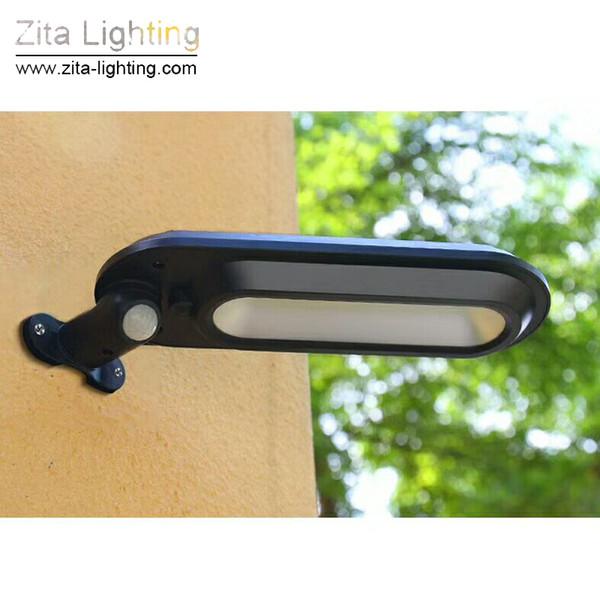 Zita Lighting LED Solaire Extérieure Réverbère Capteur De Capteur De Lumière De Piste 4Mode Multifonction Extérieur Étanche IP65 Sécurité Nuit Applique