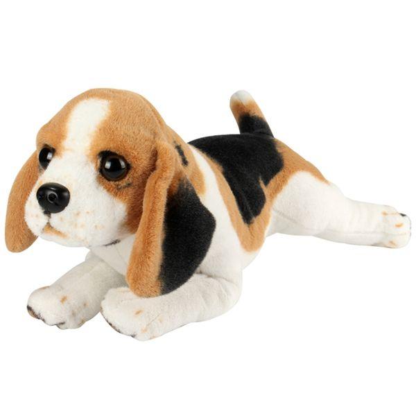 Dorimytrader Quality New Soft Simulation Animal Dog Plush Toy Big Stuffed Animals Dogs Doll Baby Present Decoration 20inch 50cm DY61576