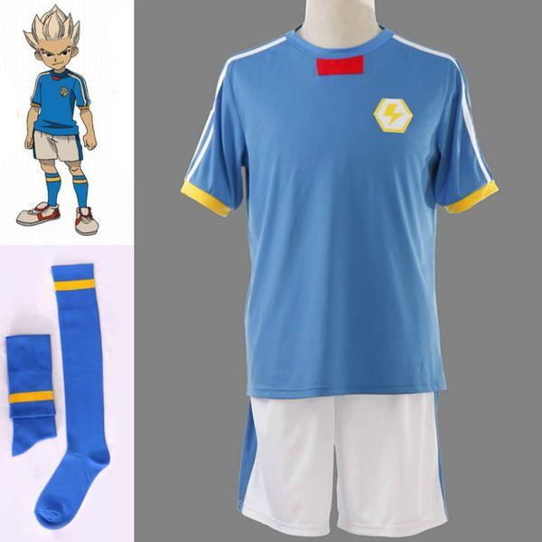 best selling Inazuma Eleven Inazuma Japan Soccer team Summer School Uniform Anime Cosplay Costume