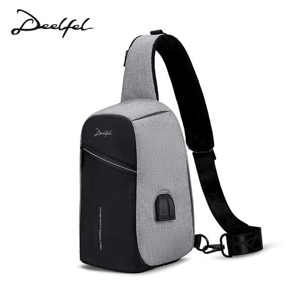 DEELFEL Crossbody сумки мужчины посланники сумка высокого качества водонепроницаемый сумка мужской 2018 новых мужчин противоугонной груди пакет