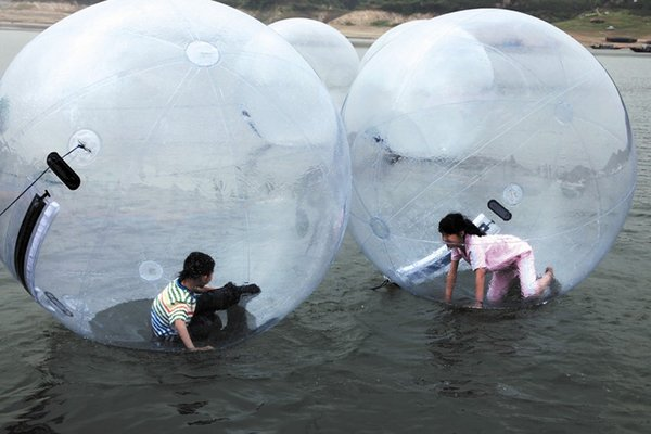 Free Shipping High Quality 2m TPU Water Zorb Ball/Clear Inflatable Walking Water Ball,Human Hamster Ball