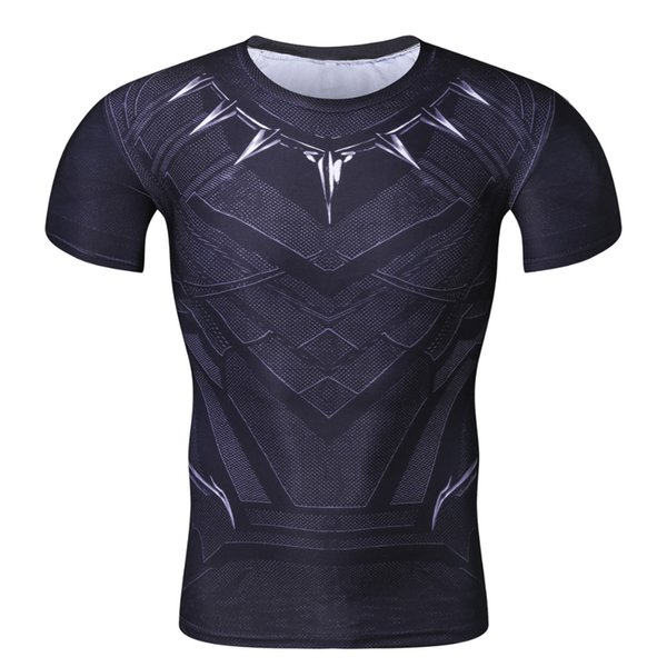 New 3D Compression Shirt Fitness Men Superhero Comics Superman Quick Dry Tights Clothing Short Sleeve T Shirt