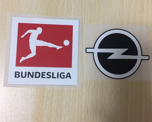 1718 BUNDESLIGA soccer Patch set Germany League soccer PU material patch Free Shipping