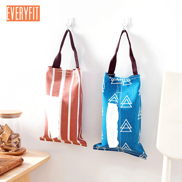 Cloth Car Tissue Holder Tissue Box Removable Paper Hanging Holder Towel Bag Case Toilet Paper Roll Cotton Linen Hanging