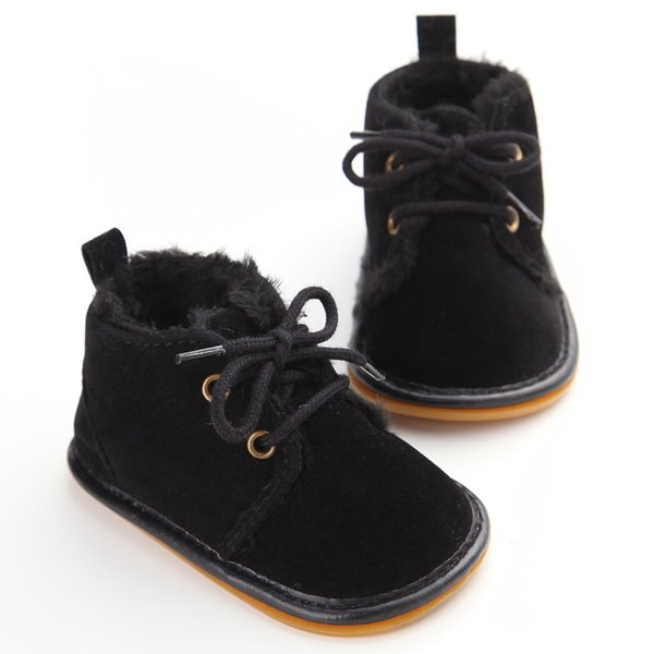 Vintage Rubber Bottom Winter Baby Shoes Boots Non-Slip Newborn Infant T-tied First Walkers Super Warm Toddler Booties Zapatos Mix Wholesale