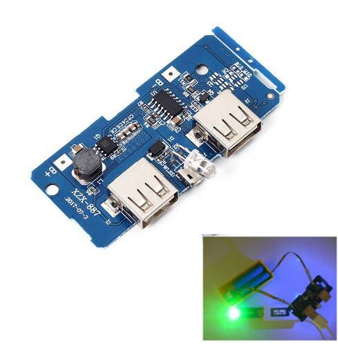 Free Shipping! 1PCS/LOT 5V 2A Power Bank Charger Module Charging Circuit Board Step Up Boost Power Supply Module Dual USB Output 1A Input