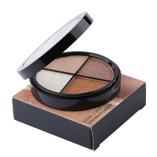 4 Warm Color Makeup Baked Eye Shadow Palette Matte Eyeshadow Pallete Set Shining Shimmer Powder Silky Pigments