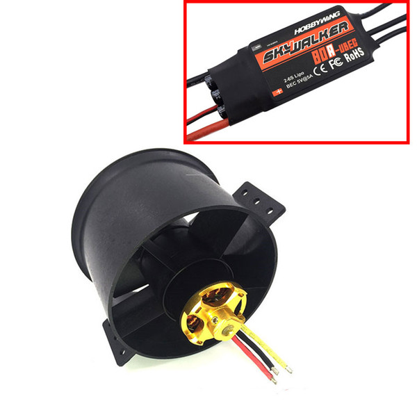 2019 QX MOTOR 90mm 6 Blades Ducted Fan EDF Unit With 3530 KV1750 Motor Qx Motor Wiring Diagram on