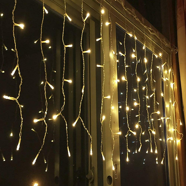 led icicle lamp curtain fairy string light 220V christmas light for wedding home garden party decoration 3Mx1M 120leds