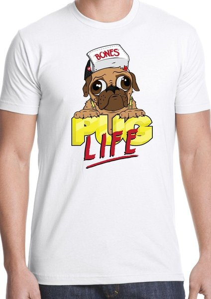 pug life t shirt dog love pet animal lover breed paw woof canine gift present