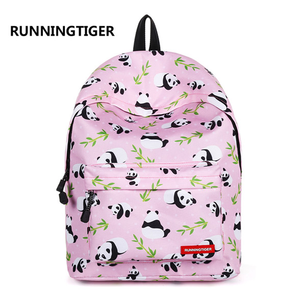 High quality Backpack Cute panda Printing Backpack Casual Student Bags for Teenage Girls Travel Backpack Female Mochila students bags