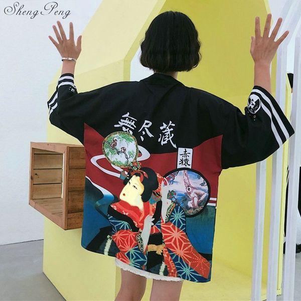 Kimono giapponese camicia cardigan spiaggia moda tradizionale kimono giapponese yukata donne kimono tradizionali Q142