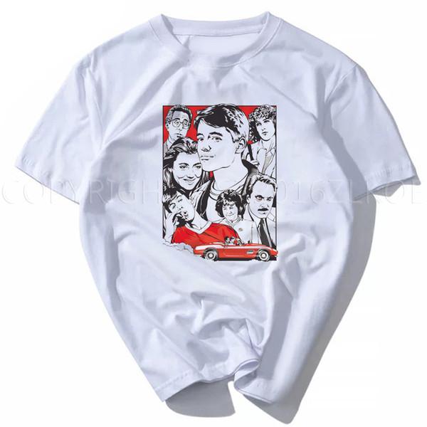 2018 camiseta Ferris Bueller save ferris, película de los años 80, comedia, Graphic Tee Shirt Moda unisex mujeres hombres manga corta divertido
