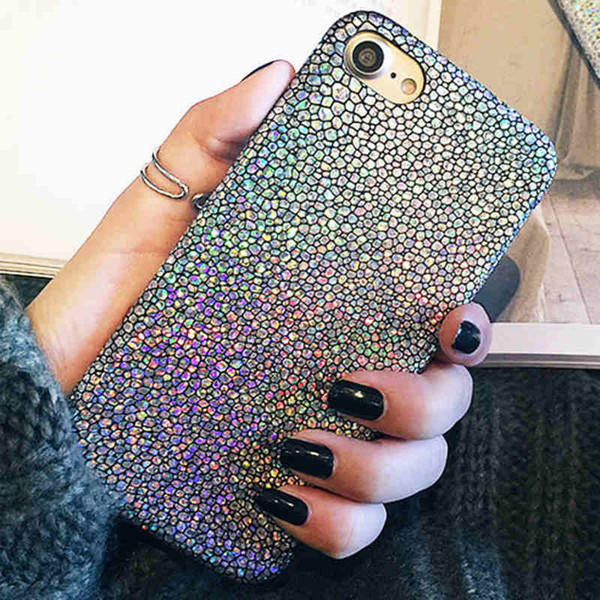 Luxury Sparkle Glitter Phone Case for iphone 8 7 6 6s Plus Ultra Thin Soft PU Leather Colorful Back Cover for iPhone6 S 7Plus