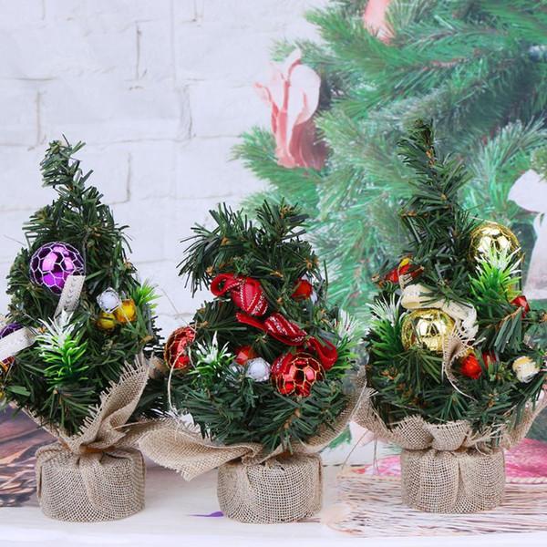 Inicio Feliz Navidad.Compre Feliz Navidad Decoracion Mini Arbol De Navidad Delicados Arboles Inicio Parte Interior Ornamento Pequeno Regalo Decorativo Estilo A 21 71 Del