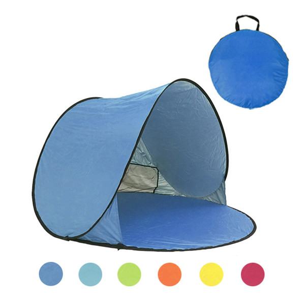 Tenda da spiaggia Ultralight Tenda pieghevole Pop Up Automatic Open Famiglia Tourist Fish Camping Pesca anti-UV completamente sole Ombra