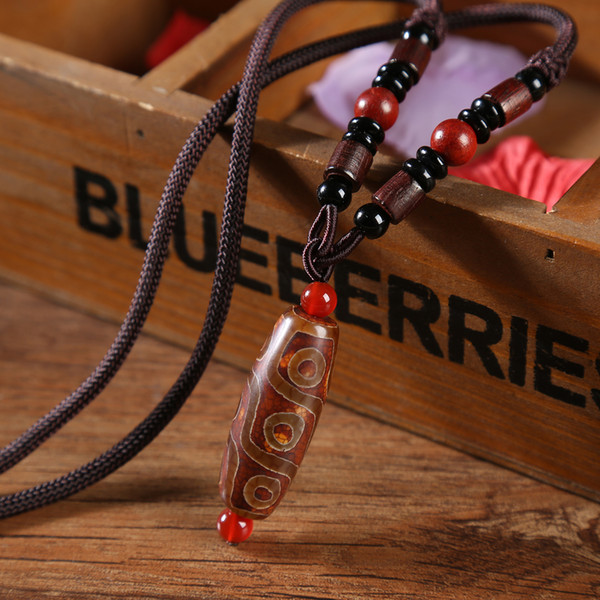 Tibetan Tianzhu necklace male and female retro chain Lotus Bodhi accessories pendant summer clothing pendant ethnic style