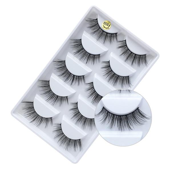 5 Pairs makyaj sahte kirpikler doğal kalın 100% gerçek 3d vizon kirpikleri kürk şerit sahte göz lashes vizon kirpik uzatma