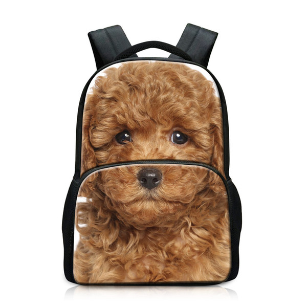 Daily Pack Apply to High School Students Most Popular Book Bags for Child Laptop Package for Travelling School Backpacks for Girl Cute Dog