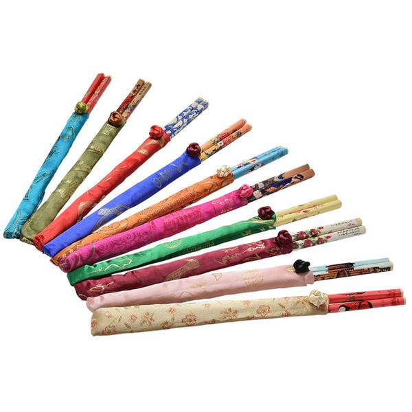 Paquete De 12 pares de palillos tradicional//palos de bambú con patrones