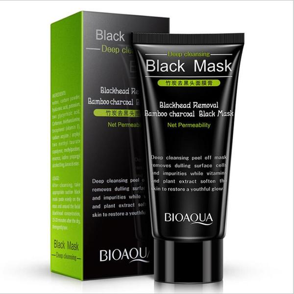 300pcs BIOAQUA Charcoal Mask Blackhead Remover Black Mask Deep Cleasing Peeling Off Face Mask Beauty Skin Care 60g