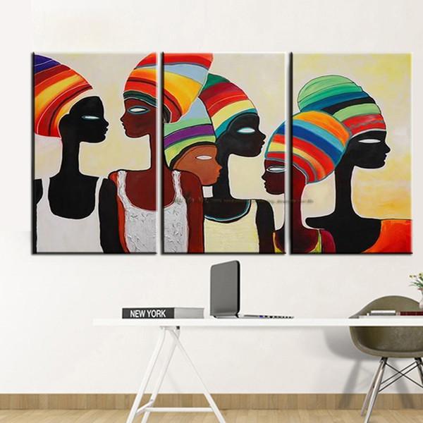 Quadri Moderni Per Soggiorno.Acquista Pittura Murale Decorativa Donna Africana Pittura Quadri Moderni Quadri Astratti Dipinti Su Tela Soggiorno A 318 4 Dal Yingpangpan