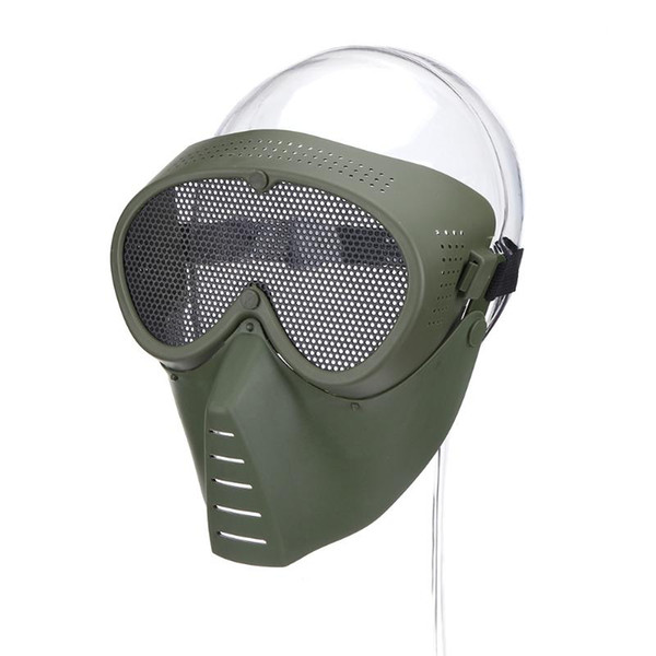 Máscara de Airsoft Meia Face Máscara de Malha de Malha de Rede De Metal Ao Ar Livre Tático de Proteção CS Halloween Party Meia Máscara de Ciclismo Ao Ar Livre
