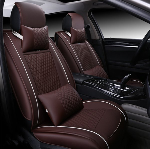 Car Seat Cushion Full Surround Breathable Seat Cover universal fit Leather Auto Seat Covers for Honda Civic Sedan Coupe Full Set