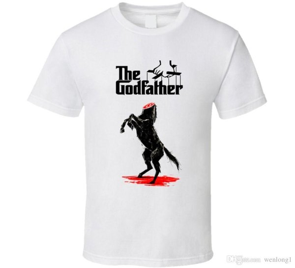 The Godfather Cult Classic Mafia Crime Movie T Shirt Black Cotton T-Shirt Top Tee Fresh Design Summer Good Quality