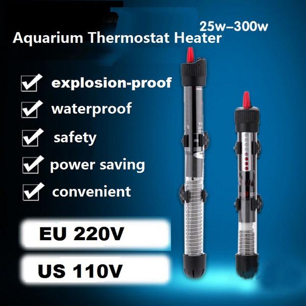 best selling Aquarium Heater Thermostat Glass heaters Tropical Fish Tank accessories water thermostats controller EU US 25W 50w 100w 200w 300w