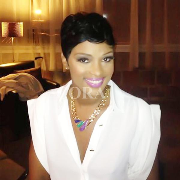 Großhandel 2017 Promi Kurze Bob Haar Perücken Brasilianisches Haar Super Kurze Gerade Perücken Mit Babyhaar Kurze Perücken Für Schwarze Frauen Von