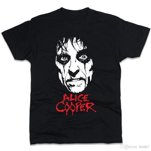 PrintPro Alice Cooper T-Shirt Men Regular Fit 3D Men Hot Cheap Short Sleeve Male T shirt