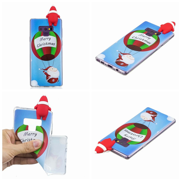 3D Santa Claus Soft TPU Case For Iphone XR XS MAX X 8 7 6 5 SE Galaxy Note9 S9 Plus S8 A8 2018 Sock Tree Snow Snowman Christmas Gift Cover