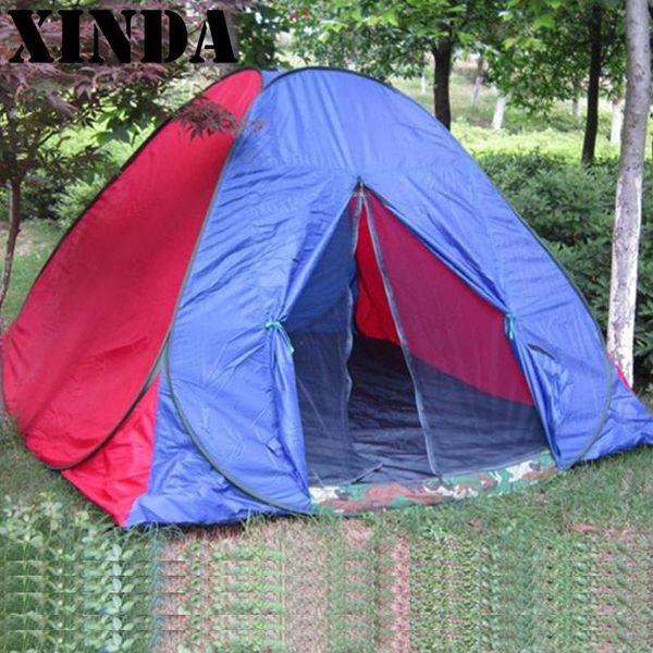 Tienda de campaña para tiro al aire libre 3-4 personas Turista de una sola capa a prueba de viento Pop Up Tienda de campaña Tienda De Acampar Tente Carpas Nuevo
