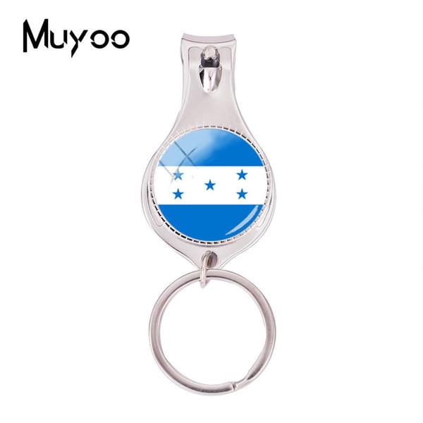 2018 Fashion Flag Of Honduras Multifunctional Keychain Handmade Nail Clipper Keyring Art Glass Photo Jewelry Nail Clippers