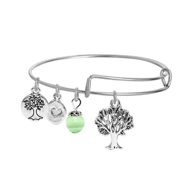 10 Styles Adjustable Bracelets Personality Tree of Life,palm,starfish,shell Pendant Bracelet Alloy Charm Bangles B0397