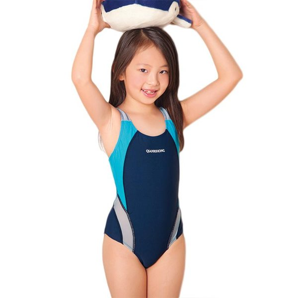 New One Piece Swimming Suit Girls Sports Swimsuit For Children Professinal Training Swimwear New Brand Clothes Summer SW276-CGR3