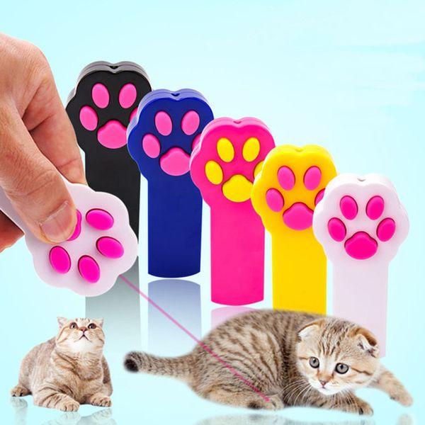 best selling New Footprint Shape LED Light Laser Toys Laser Tease Funny Cat Rods Pet Cat Toys Creative