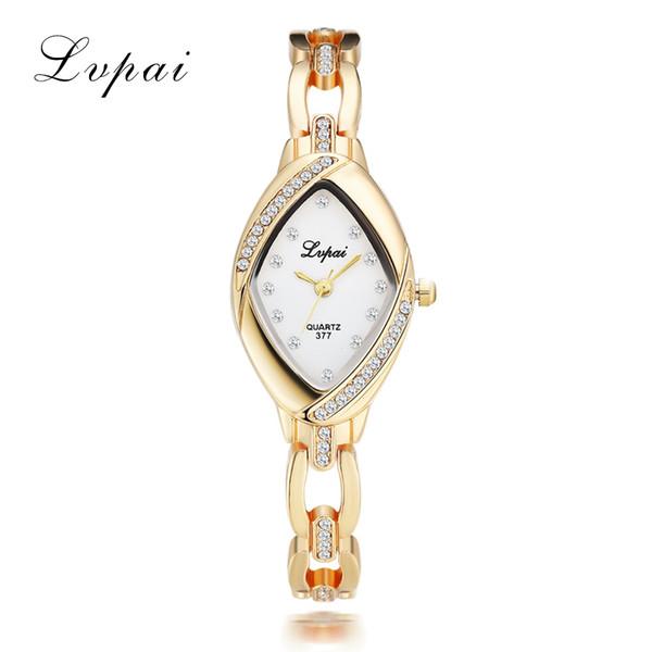 Dropshipping Luxury Ladies Bangle Watches for Women Rhombus Cheap Gold Rhinestone Watch Dress Quartz Wrist Clock Watches