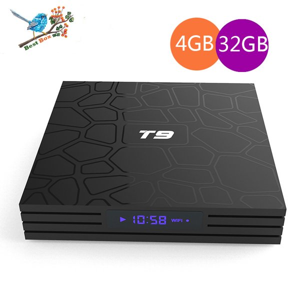 T9 Android 8 1 Smart Tv Box Rk3328 Cpu Quad Core 4k H 265 3d Hd 4gb Ram  Ddr4 32gb Android Tv Box 4gb 64gb Factory Oem Odm Pc To Tv Box Tv Box Apps
