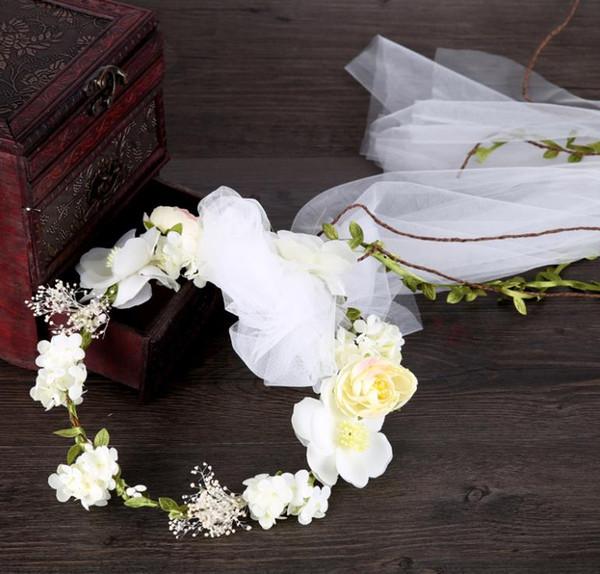 Handmade flowers, wreath, white flower fairy, hay head dress, bridal hair, veil, bridal ornaments.