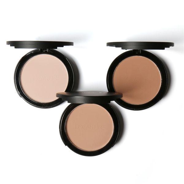FOCALLURE 3 Colors Make Up Face Powder Bronzer Highlighter Shimmer Brighten Face Pressed Powder Palette Contour Makeup Cosmetics