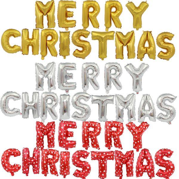 Frohe Weihnachten Brief.Grosshandel 16 Zoll Gunstige Frohe Weihnachten Buchstaben Folienballons Set Happy Wedding Party Weihnachten Brief Helium Aluminium Luftballons Set Von