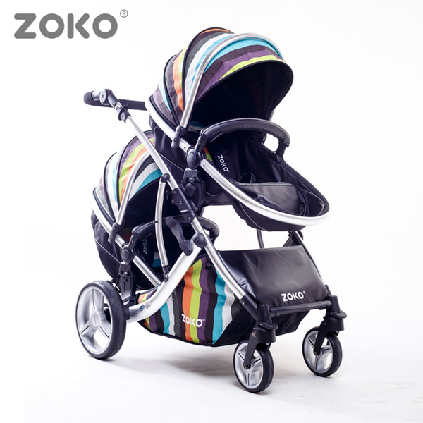 Twins Stroller,Two Directions, Sit & Lie Down, High-qiuality, High-view, Super Suspension, Aluminum Alloy Frame, Baby Pushchair.