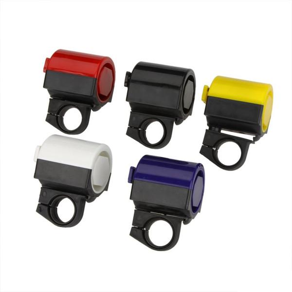 Großhandels-MTB-Straßen-Fahrrad-elektronische Klingel-Horn-Radfahrensirschsirene-Zusatz-Blau / Gelb / Schwarzes / Rot / Weiß geben Verschiffen frei 200Pcs