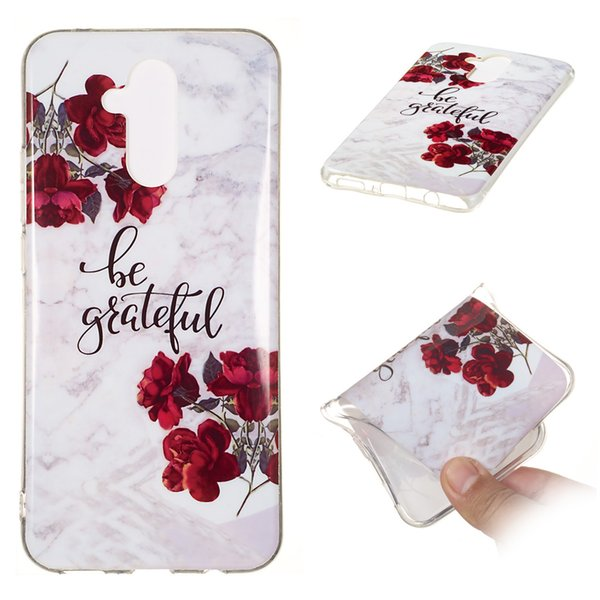 New Hot Seller Classic Colorful Marble Phone Case For Huawei Mate 20Lite Granite Marble Texture Phone Soft TPU Back Cover Phone Case