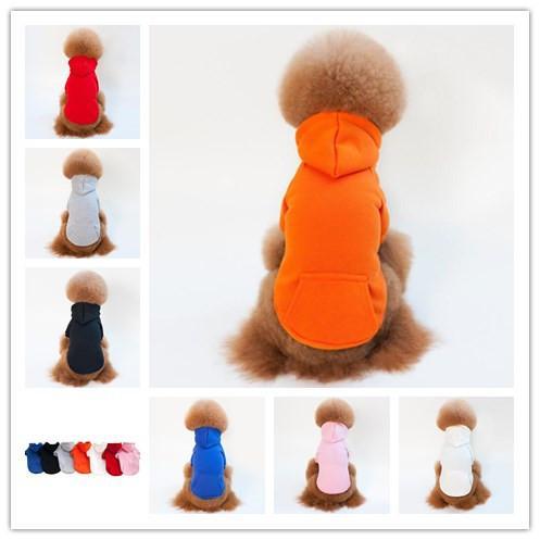 Autumn winter pet dog costume 7 color warm fleece coat dog clothes 6 size cotton apparel fashion jacket dog supplies for bichon teddy
