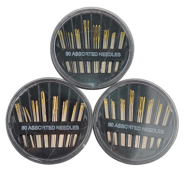 100sets 30PCS Assorted Hand Sewing Needles Multi Function Stainless Steel Craft Tools Manual Needles Disc Hot Sale lin3843